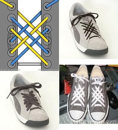 花式穿鞋带法