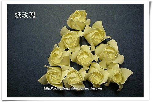 长条纸玫瑰花的折法图解